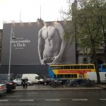 Abercrombie & Fitch & the 4 storey high naked male torso towering over Dublin