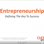 Entrepreneurship – Defining The Key To Success presentation (slides included)
